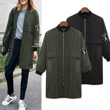 2017 New Fashion Women Trench Loose Windbreaker Outwear Autumn Harajuku Coat Long Vintage Korea Style With Liner Plus Size 5XL(China)