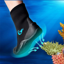 5MM Neoprene Vulcanization High Upper Scuba Dive Boots Cold Proof Anti Slip Skid Keep Warm Shoes Fishing Winter Swim Fins(China)
