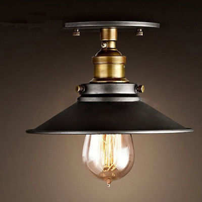flush mount retro industrial ceiling lamp modern chandeliers china decoration<br><br>Aliexpress
