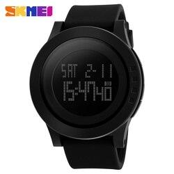 SKMEI мужские спортивные водонепроницаемые электронные часы на силиконовом ремешке, со светодиодной подсветкой