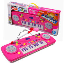 Baby girl brand pink Electronic organ Keyboard music instrumental toys/ Kids Child Orff electric piano learning educational toys