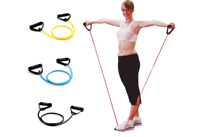Child Women Tensile Rope Training Multi-function Equipment Elastic Tube Arm Strength Resistance Bands Pull Rope Security Stable(China (Mainland))