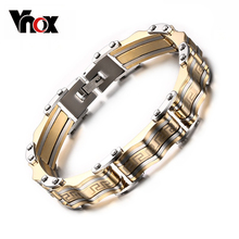 Vnox Men's Bracelet Bangle 316l Stainless Steel Male Jewelry Charming Great Wall Carving Bracelet For Man