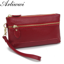 Arliwwi High Quality Multi Functional Genuine Leather Cluth Bag 7 Colors Durable 100% Real Cowhide Coin Purse(China)