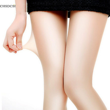 1Pcs Sexy Nylon Spandex Lady Women 4 Colors Transparent Tights Pantyhose Stockings Black gray coffee Skin(China)