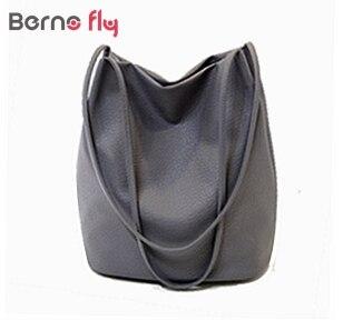 New Designer Women Leather Handbags Black Bucket Shoulder Bags Ladies Cross Body Bags Large Capacity Ladies Shopping Bag Bolsa<br><br>Aliexpress
