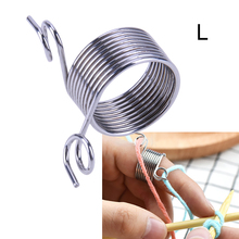 Knitting Accessory Thread Leading Tool Stainless Steel Fingertip DIY Silver Weaving Tools Crafts Size S L accessoires de tricot