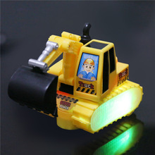 Children 360 degree rotate electric excavator toys with music/ Kids boy's gifts flashing trumpet Truck tractors battery toys