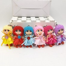 6pcs/lot New 8cm  mini Lalaloopsy Doll the bulk button eyes toys for girl classic toys Brinquedos