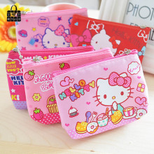 RoseDiary New lovely hello kitty canvas girl coin purse child change purse,lady students children key&cosmetic holder coin bag(China)