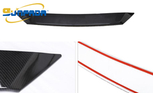 SUNFADA ABS Carbon Fiber Texture Front Center Grill Grille Cover Trim External Decoration For MAZDA 6 ATENZA 2017 Car Styling