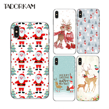 Merry Christmas Gifts Phone cases For iphone 7 8 plus Soft TPU Silicon Beautiful Christmas Tree Socks Phone shell