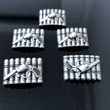 50PCS 21X14MM Antique Silver Bullet Studs Gun Rivet Punk Bullet Spike Shoes Belt Bag Accessories Leather Craft Shipping Free