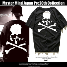 2017 Summer Style MMJ 20th Anniversary Edition Classic Skull Retro Hiphop Kanye West Mastermind Japan Hip Hop Skateboard T-shirt