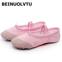 Beinuolvtu Soft Ballet shoes indoor dance trainers Suede Leather Soles Ladies' Dance Shoes Girls Body shoes dancing(China)