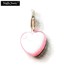 Love Pink Heart Charm Pendant,Thomas Style Muffiy Club Good Jewelry For Women,Ts Romantic Gift In Silver Fit Bracelet Bag