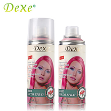 Professional 138ml Dexe Hair Color Spray Disposable Temporary Hair Dye Colorful Optional