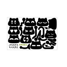1 Set 45*30cm Black Removable Cat Switch Wall Stickers Cute Mural Baby Nursery Room Poster Home Decoration Accessories