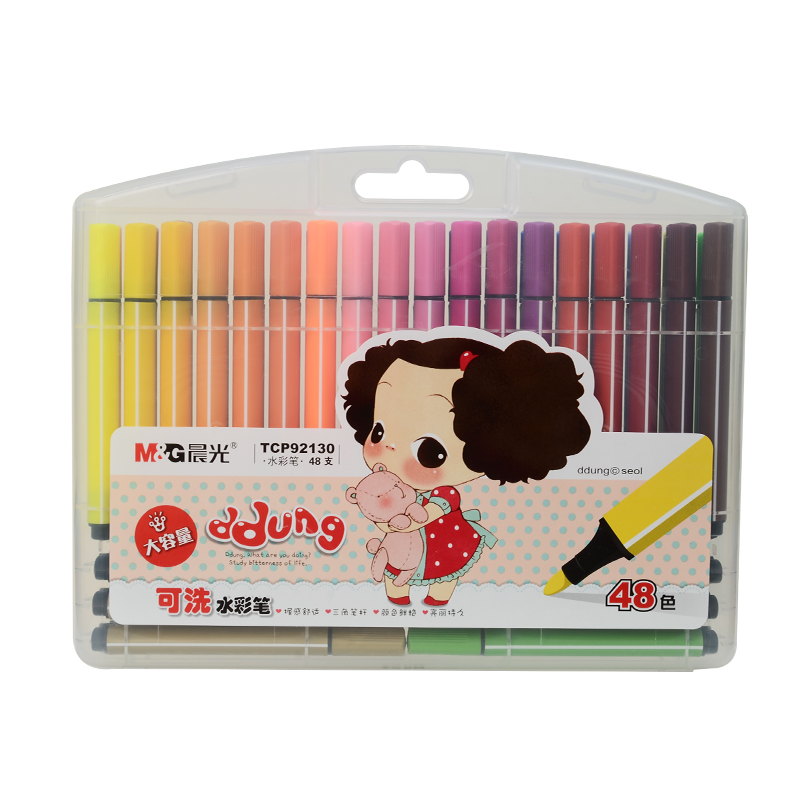Chenguang stationery series trigonometric 48 colors water wash watercolor colored pen Art Markers<br><br>Aliexpress