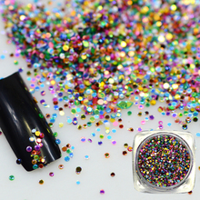 Hot Fashion 2g Shining Color Acrylic Nail Art Thin Paillette Tips Decoration Mini Round Nail Art Tool Nail Glitters BEY06