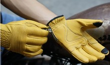 Buy Fashion retro leisure uglyBROS gloves motorcycle gloves locomotive leather gloves unisex moto gloves yellow size: S-2XL for $36.38 in AliExpress store
