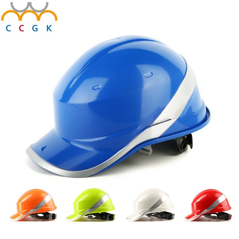 New Safety Helmet Hard Hat Work Cap ABS Insulation Material With Phosphor Stripe Construction Site Insulating Protect Helmets<br>