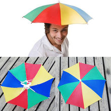 Newest design Foldable Headwear MultiColor Umbrella Hat Cap Beach Sun Rain Fishing Camping Outdoor Sport Umbrella