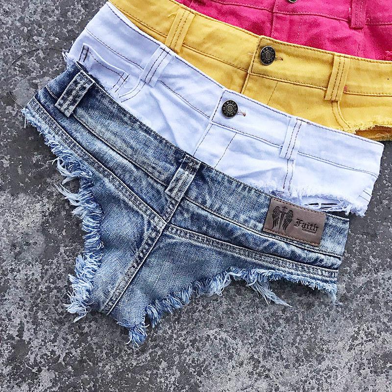 New 17 Summer Women Sexy Jeans Shorts Feminino Candy Color Fashion Hot Denim Shorts Beach Ladies Party Low Waist Mini Shorts 27