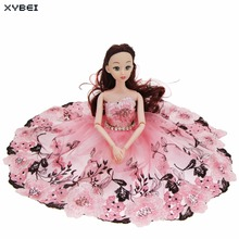 Fashion Modern Car Furnishing Articles Wedding Party Gown Pink Bride Costume Dress DIY Decorations Accessories Kids Gift Toy(China)