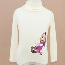Masha and bear clothes 100-140cm girls sweaters children pullover sweaters turtleneck knitted kids sweaters for girls knitwear
