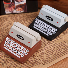 Cute Mini Retro Typewriter desktop figurines wooden message note clip pictures photo holder Home decor Arts crafts gift