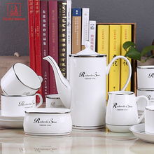 Porcelain Coffee Set Bone China Tea Coffee Sets Mugs Cups And Saucers Drop Shipping For Christmas Wedding Gift(China)