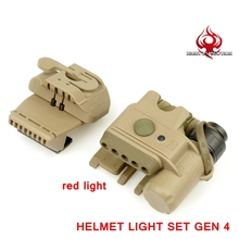 Night-Evolution Helmet Light Set Gen 3 Light Helmet White&Red infrared LED Flashlight Clamp Hunting Military Tactical NE05003 BK(China)