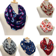 women Scarf Voile female printing Elephant Pattern Print Voile Wrap Shawl girl Scarf echarpe mulher 90cm*180cm