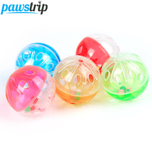 Pet Toys Ball Funny Cat Toys Cheap Quality Plastic Dog Kitten Toys Throwing Play Toys For Small Dog Cats 10Pcs/lot(China)
