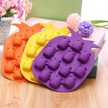 Pineapple Shape Silicone Ice Cube Tray Mould Ice Maker Fruit Chocolate Jelly Freeze Mold
