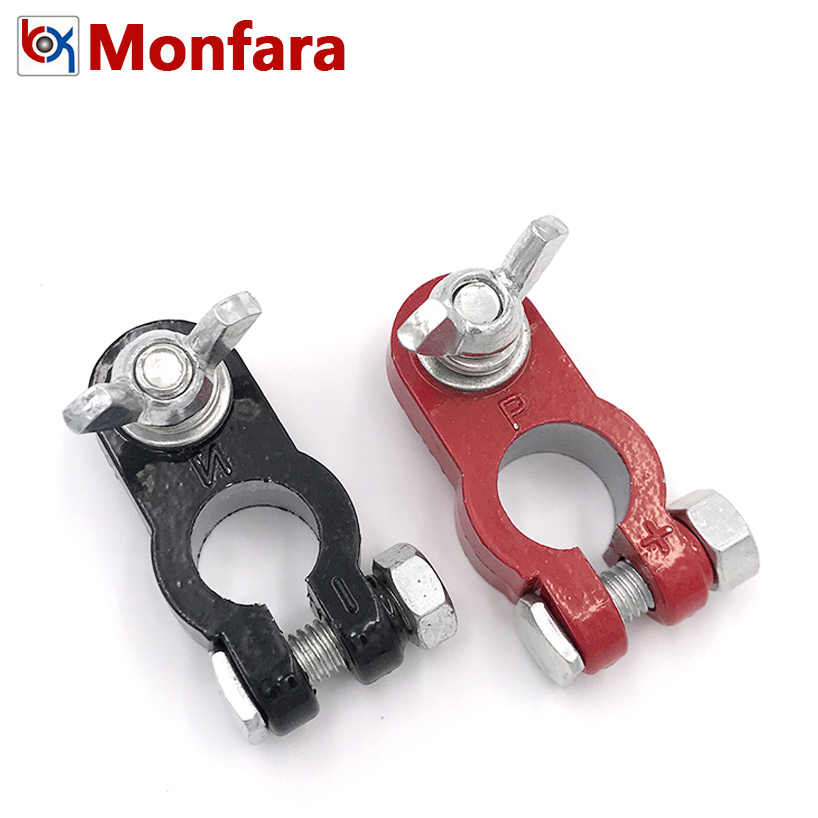 New Aluminum Alloy Car Truck 2pcs Metal Auto Battery Terminal Link Universal