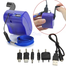 Dynamo Hand Crank Generator USB Cellphone Emergency Charger For MP3 PDA Phone