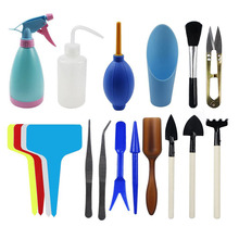 BAKHUK 3 Different Sets Succulent Potting Tools, T-shaped Floral Labels, Flower Transplant Tool, Mini Gardening Supplies