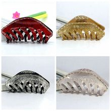 Free Shipping Big Size High-quality Rhinestone Drawing Hair Clip Exquisite Acrylic Hair Claw Hair Crab Clamp Top-Rated HC622
