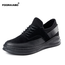 Fooraabo British Style Mens Trainers Brand 2017 Cool Fashion Men Casual Shoes Black Luxury Comfortable Shoe Men Autumn(China)