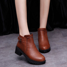2016 Autumn and Winter Fashion Female Boots Women Ankle Boots Rough Heels Martin Short Boots Brown Black Gray Winter Women Boots