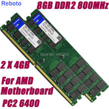 NEW 8G 8GB 2 X 4GB DDR2 800 800MHz PC2-6400 240PIN DIMM only support AMD Motherboard Desktop Memory RAMS +Free Shipping