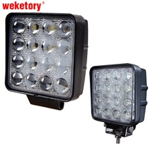 weketory 48W 4.5 inch LED Work Light Flood Driving Lamp for Car Truck Trailer SUV Offroads Boat 12V 24V 4WD