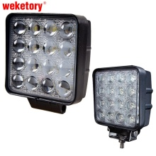 weketory 48W 4.5 inch LED Work Light Flood Driving Lamp for Car Truck Trailer SUV Offroads Boat 12V 24V 4WD(China)