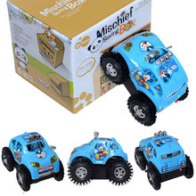 Free Shipping Blue Fun Somersault Toy Truck Car Jeep Suv Moto Vehicle Micky Mouse Baby Child Electric Sand Type Great Xmas Gift(China)