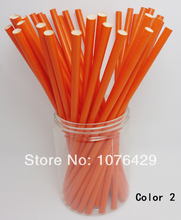 50 Pcs Paper Straws Solid Color Drinking Straws For Wedding Party Birthday Decoration Color 2