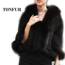 Special offer! Knitted Genuine mink fur Shawl/Scarf women's Unique mink fur phocho New Arrival Free shipping HP137BB(China)