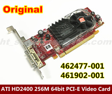 High Quality  ATI HD2400 256M PCI-E Video Graphic Card with DMS59 to dual DVI Cable 462477-001 461902-001