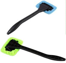 Hot Microfiber Auto Window Car Cleaning Long Handle Car Wash Brush Dust Car Care Windshield Towel Handy Washable Car Cleaner